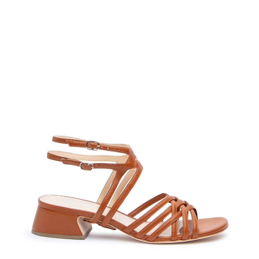 Cognac Bell Sandal + Lozen Customized Sandals | Alterre Interchangeable Sandals - Sustainable Footwear & Ethical Shoes