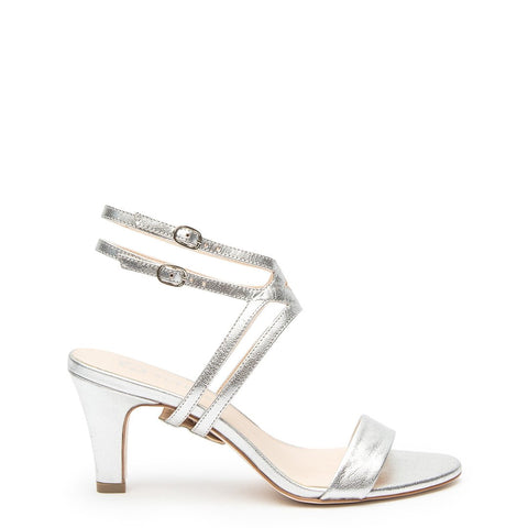 Silver Open Toe + Silver Lozen Customized Open Toe Heels | Alterre Interchangeable Open Toe Heels - Sustainable Footwear & Ethical Shoes