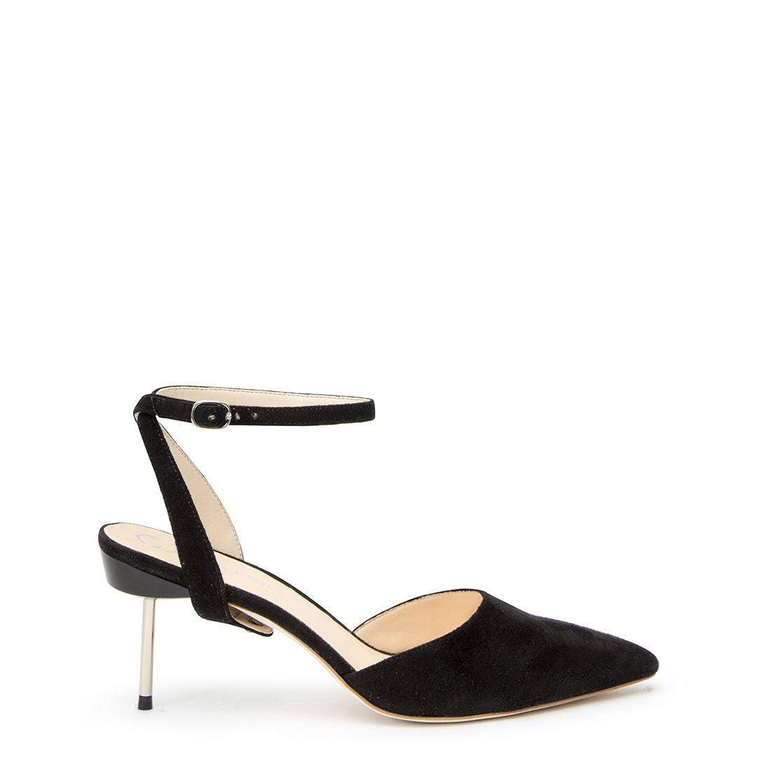 Black Suede Stiletto + Marilyn