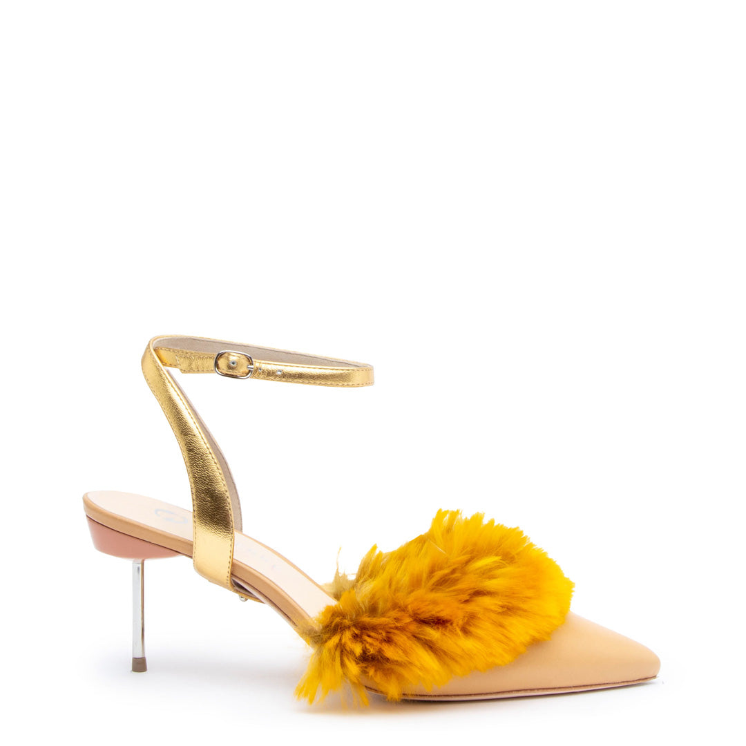 Marilyn in Gold Personalized Womens Shoe Straps | Alterre Create Your Own Shoe - Sustainable Shoe Brand & Ethical Footwear Company