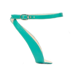 Marilyn in Teal Customized Shoe Straps | Alterre Interchangeable Shoes - Sustainable Footwear & Ethical Shoes
