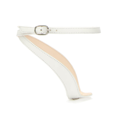 Marilyn in White Customized Shoe Straps | Alterre Interchangeable Shoes - Sustainable Footwear & Ethical Shoes
