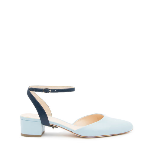 Agate Blue Slide + Evening Sky Marilyn Customized Slide Sandals | Alterre Interchangeable Slides - Sustainable Footwear & Ethical Shoes