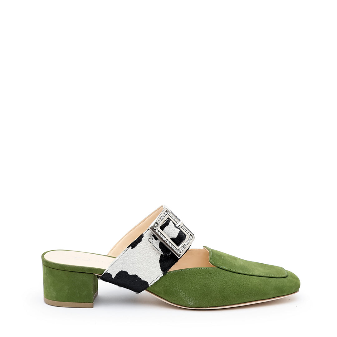 Moss Loafer + Cow Grace Customized Womens Loafers | Alterre Interchangeable Loafers - Sustainable Footwear & Ethical Shoes