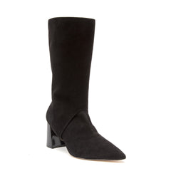 Black Suede Sock Boot + Nancy in Black Suede