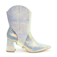 Opal Snake Customizable Boot + Western Oakley Strap | Alterre Interchangeable Boots - Sustainable Footwear & Ethical Shoes