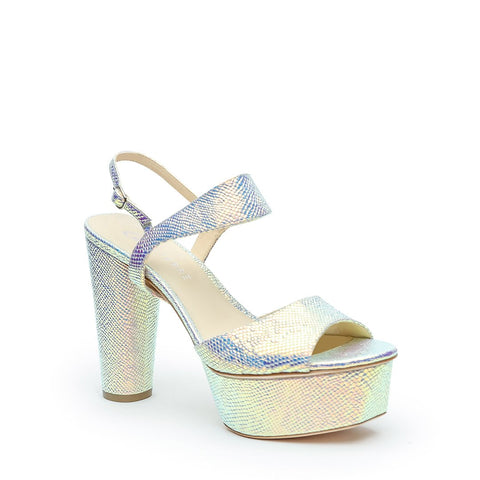 Opal Snake Platforms + Elsie Customizable Strap | Alterre Make A High Heel - Sustainable Shoes & Ethical Footwear