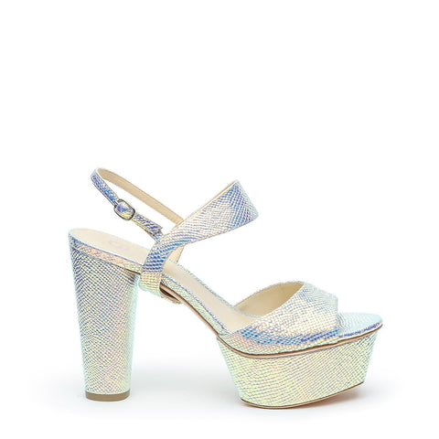 Opal Snake Platforms + Elsie Customizable Strap  | Alterre Interchangeable High Heels - Sustainable Footwear & Ethical Shoes