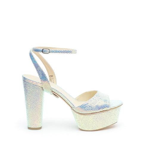 Opal Snake Platforms + Marilyn Customizable Strap  | Alterre Interchangeable High Heels - Sustainable Footwear & Ethical Shoes