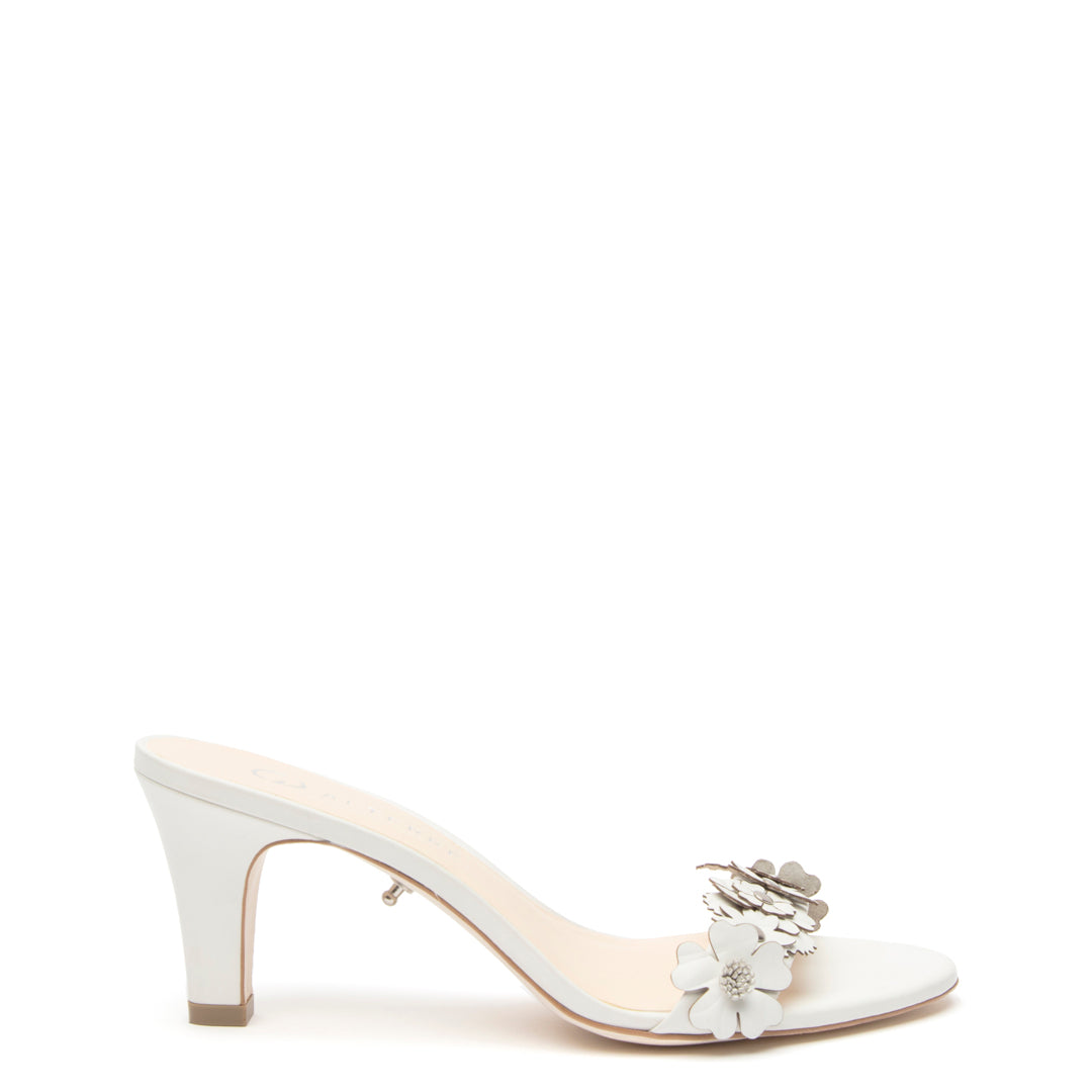 White Floral Open Toe