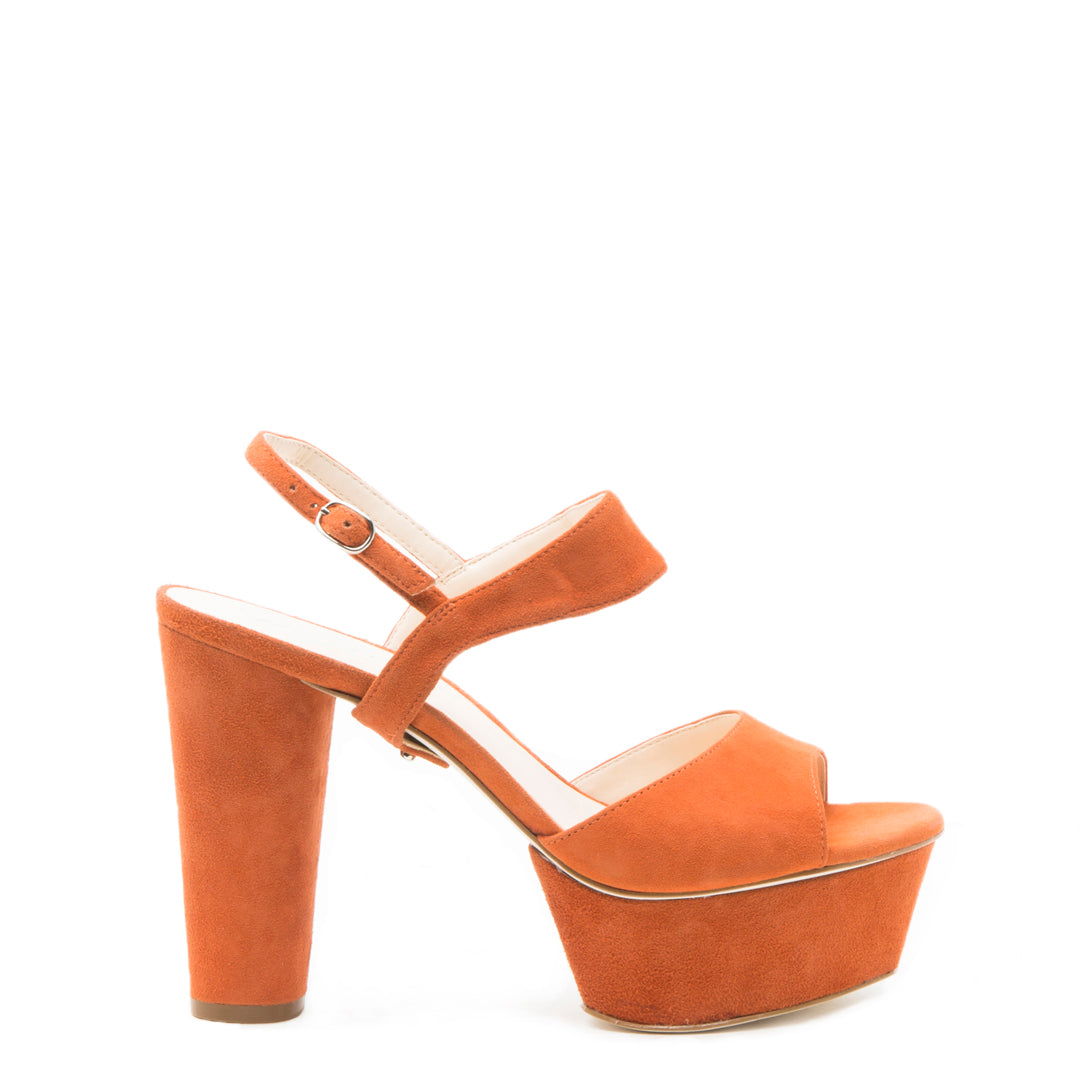 Elsie in Orange Suede Custom Shoe Straps | Alterre Make A Shoe - Sustainable Shoes & Ethical Footwear