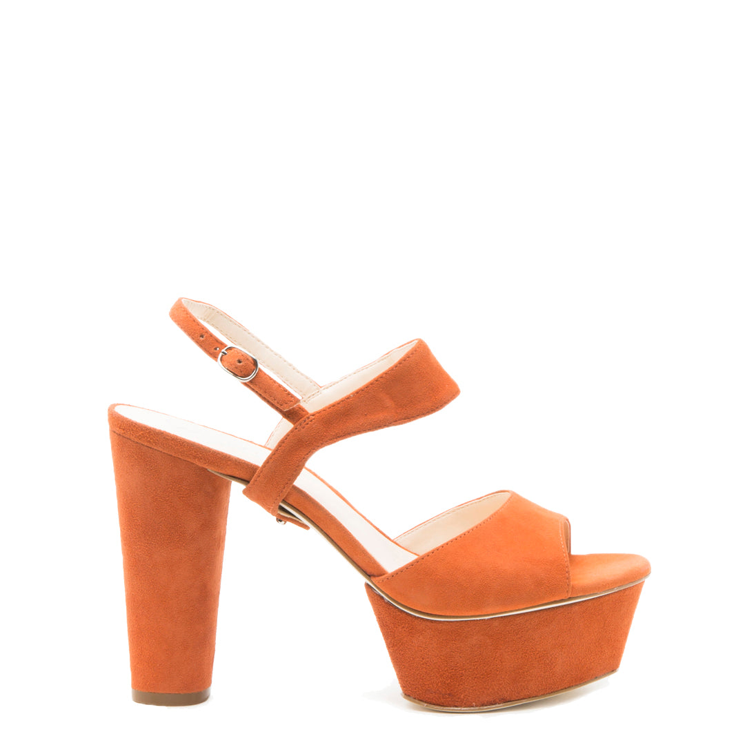 Orange Suede Platform + Elsie Customized Platforms | Alterre Interchangeable Platforms - Sustainable Footwear & Ethical Shoes