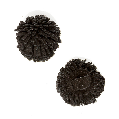 Black Suede Pom Pom Custom Shoe Accessories | Alterre Make A Shoe - Sustainable Shoes & Ethical Footwear