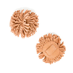 Blush Suede Pom Pom Custom Shoe Accessories | Alterre Make A Shoe - Sustainable Shoes & Ethical Footwear