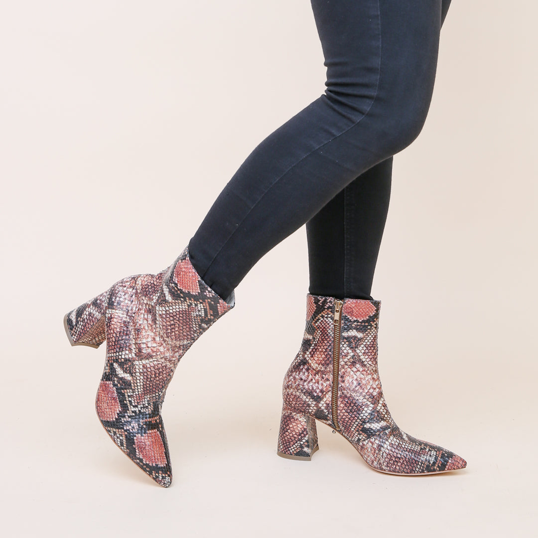Snake Print Customizable Boots | Alterre Interchangeable Shoes - Ethical Footwear & Sustainable Boots