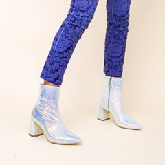 Shiny Snake Print Boots | Womens customizable boots - Sustainable Shoe Brand & Ethical Footwear Company