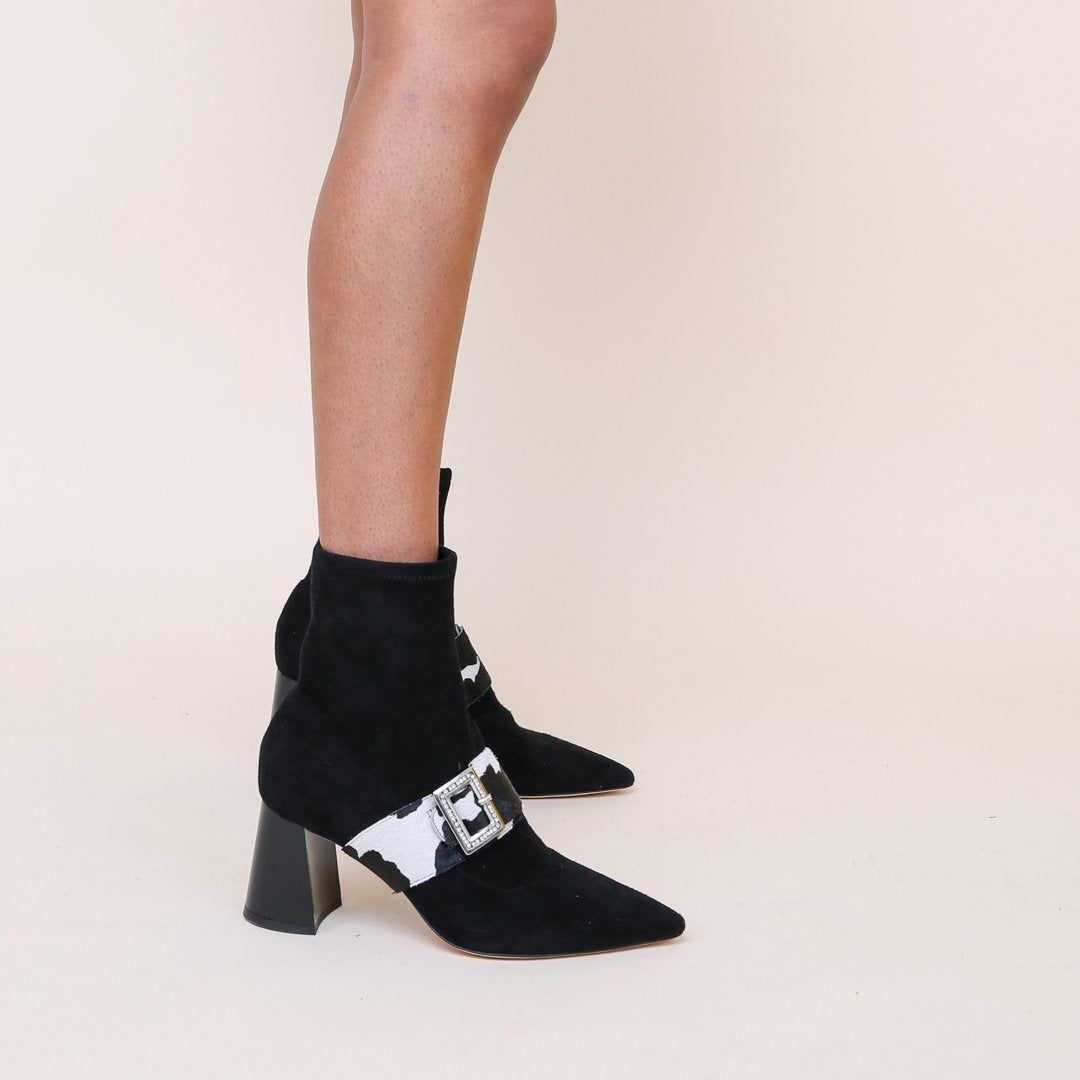 Cow Print Personalized Womens Sock Boots | Alterre Create Your Own Shoe - Sustainable Footwear Brand & Ethical Shoe Company