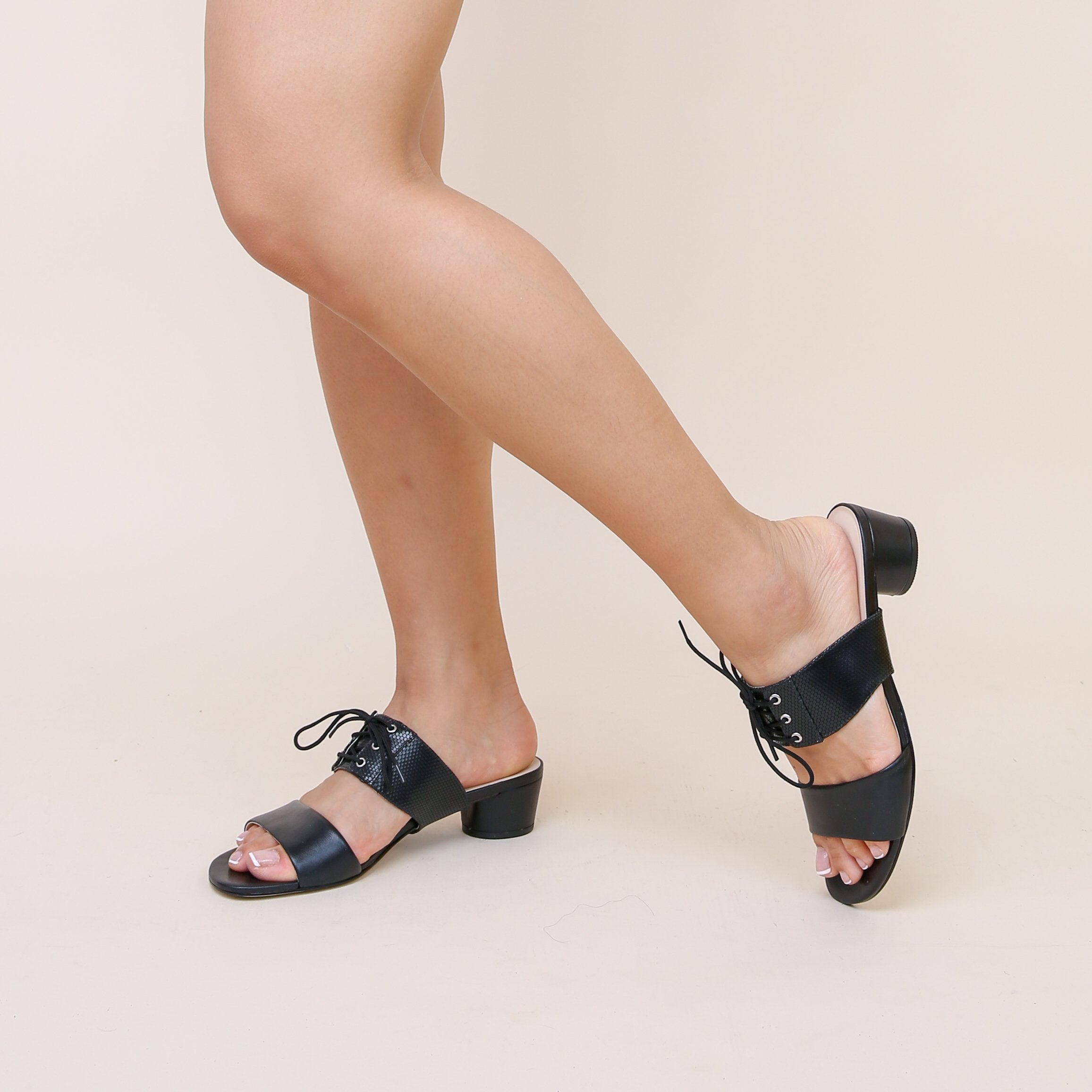 Black Personalized Womens Sandals + Rattlesnake Tilda Strap | Alterre Create Your Own Sandal - Sustainable Footwear Brand & Ethical Shoe Company