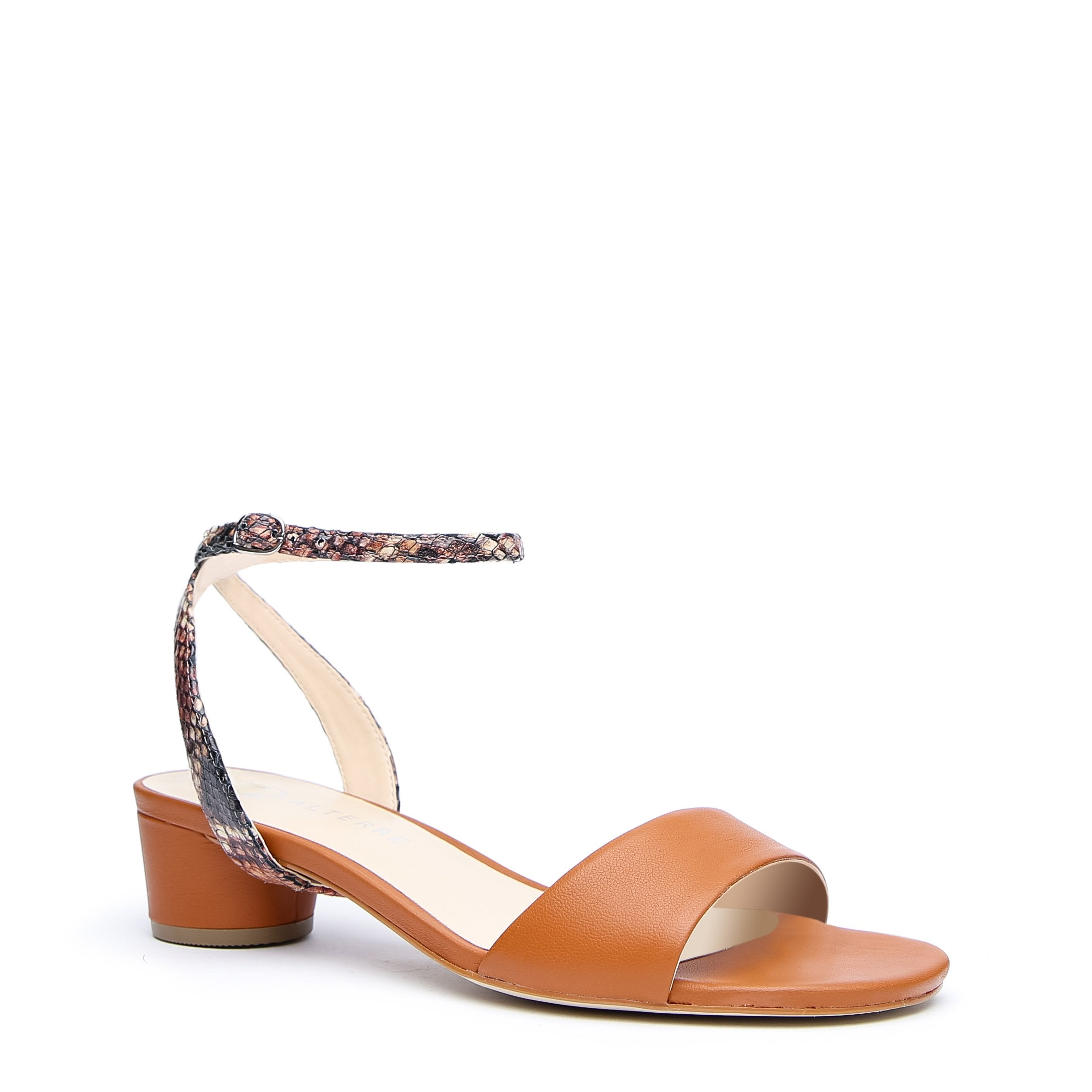 Brown Customizable Sandals + Rosy Boa Marilyn Strap | Alterre Make A Sandal - Sustainable Footwear & Ethical Shoes