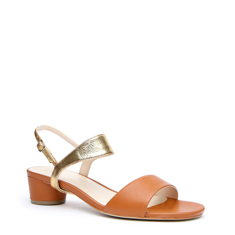 Brown Customizable Sandals + Gold Elsie Strap | Alterre Make A Sandal - Sustainable Footwear & Ethical Shoes