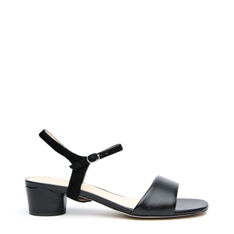 Black Customized Sandals + Black Suede Jackie Strap | Alterre Interchangeable Sandals - Sustainable Footwear & Ethical Shoes