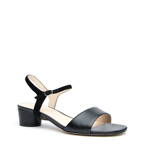 Black Custom Sandals + Black Suede Jackie Strap | Alterre Make A Sandal - Sustainable Footwear & Ethical Shoes