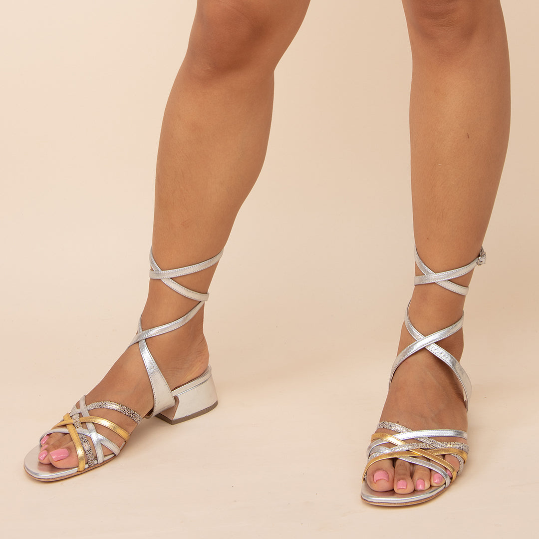 Silver Bell Sandal + Tomoe Sandals with Interchangeable Straps | Alterre Build Your Own Shoe - Sustainable Shoe Company & Ethical Footwear Brand