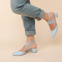 Lozen in Agate Blue Interchangeable Straps for Shoes | Alterre Build Your Own Shoe - Sustainable Shoe Company & Ethical Footwear Brand
