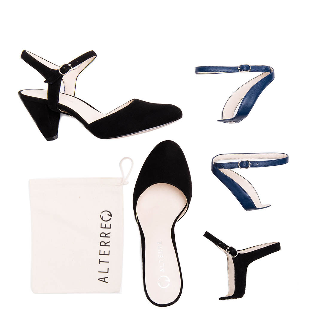 Black Heel Starter Kit Customized Shoe Kit | Alterre Interchangeable Shoe Kits - Sustainable Footwear & Ethical Shoes