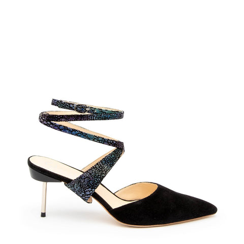 Black Suede Stiletto + Cosmic Splatter Tomoe