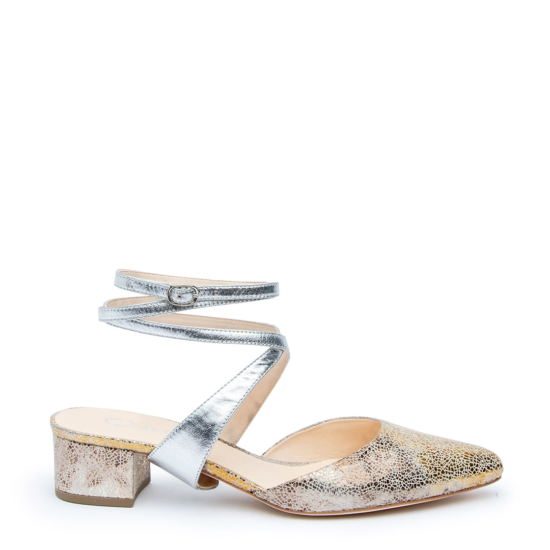Tomoe in Silver Interchangeable Straps for Shoes | Alterre Build Your Own Shoe - Sustainable Shoe Company & Ethical Footwear Brand