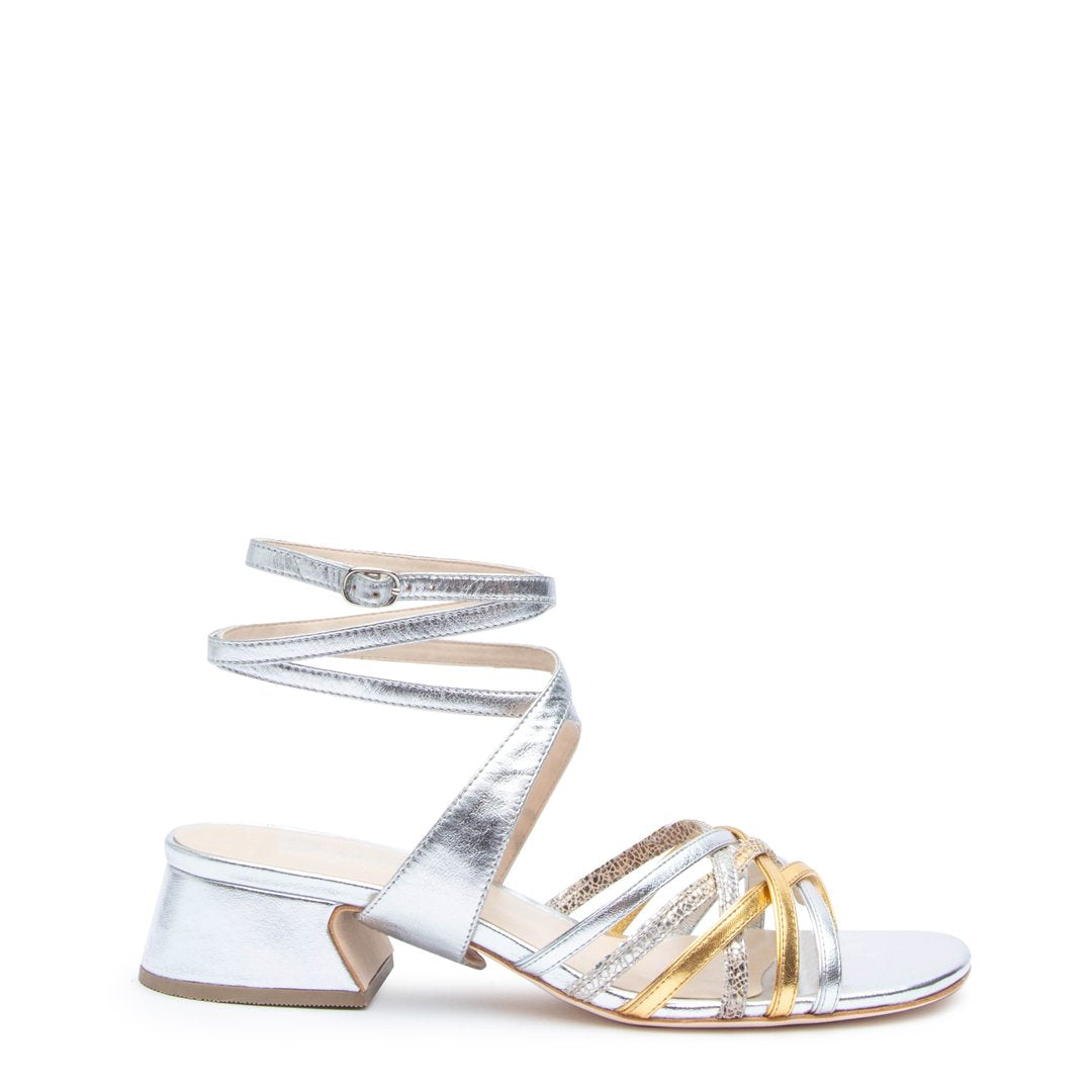 Silver Bell Sandal + Tomoe Customized Sandals | Alterre Interchangeable Sandals - Sustainable Footwear & Ethical Shoes
