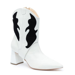 Customizable 2-in-1 Boot White/Black | Alterre Make A Boot - Sustainable Shoes & Ethical Footwear