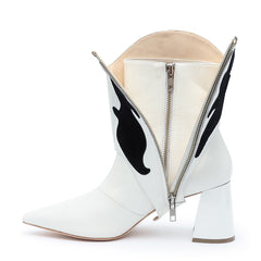White/Black Interchangeable Boot Straps | Alterre Build Your Own Shoe - Sustainable Shoe Brand & Ethical Footwear Company