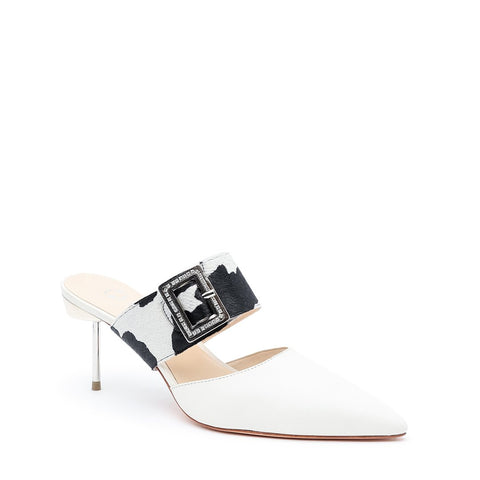 White Stilettos + Cow Grace Customizable Strap | Alterre Make A Stiletto - Sustainable Shoes & Ethical Footwear