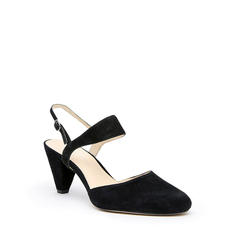 Black Suede Mule + Elsie Interchangeable Mid-Heel Mules | Alterre Customizable Mules - Ethical Footwear & Sustainable Shoes