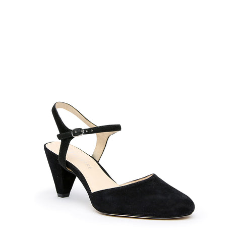 Black Suede Mule + Jackie Interchangeable Mid-Heel Mules | Alterre Customizable Mules - Ethical Footwear & Sustainable Shoes