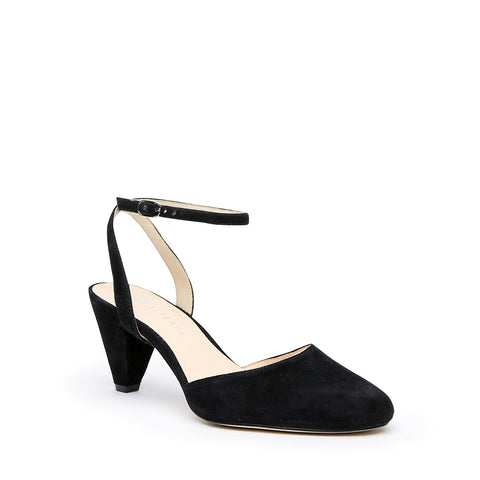 Black Suede Mule + Marilyn Interchangeable Mid-Heel Mules | Alterre Customizable Mules - Ethical Footwear & Sustainable Shoes