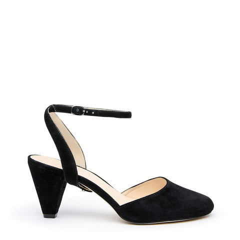 Black Suede Mule + Marilyn Customized Mid-Heel Mules | Alterre Interchangeable Mules - Sustainable Footwear & Ethical Shoes