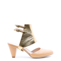 Bianca in Gold Custom Shoe Straps | Alterre Make A Shoe - Sustainable Shoes & Ethical Footwear
