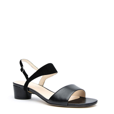 Customizable Black Sandal + Black Suede Elsie Strap | Alterre Make A Shoe - Sustainable Shoes & Ethical Footwear