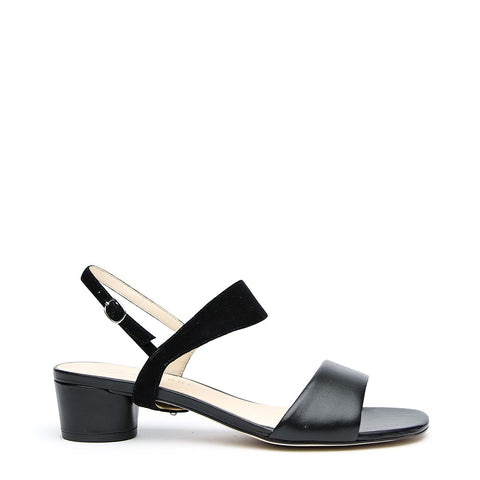 Black Customizable Sandal + Black Suede Elsie Strap | Alterre Interchangeable Shoes - Sustainable Footwear & Ethical Shoes
