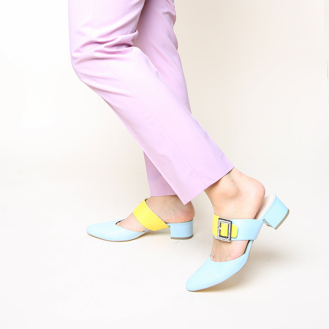 Agate Blue Slide + Grace Women's Slides | Alterre Customizable Slides - Ethical Footwear & Sustainable Shoes
