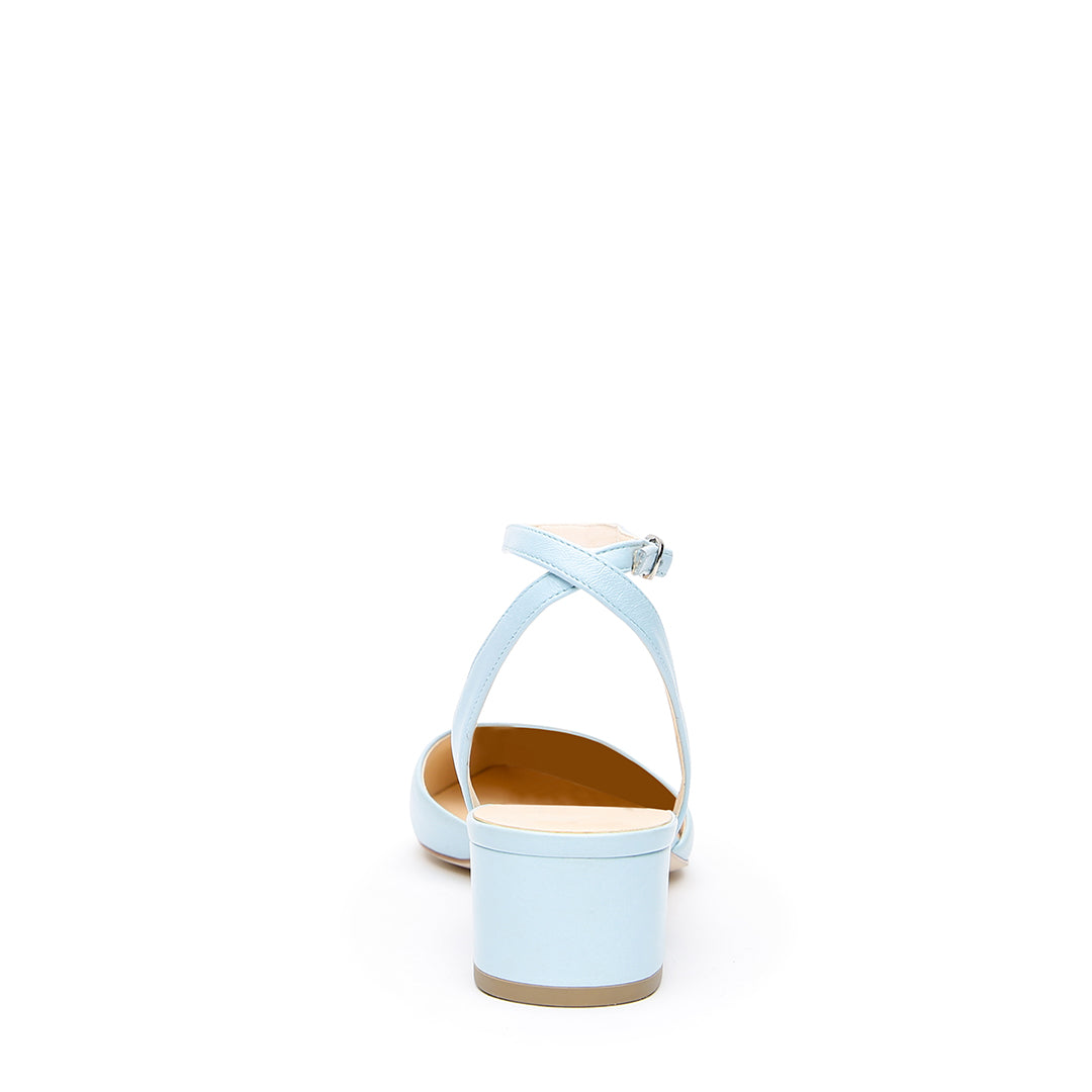 Agate Blue Slide + Marilyn Personalized Slides | Alterre Ethical Slides - Sustainable Shoes for Women