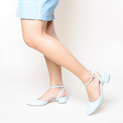 Agate Blue Slide + Marilyn | Alterre Customized Slides - Women's Ethical Heels, Sustainable Shoes