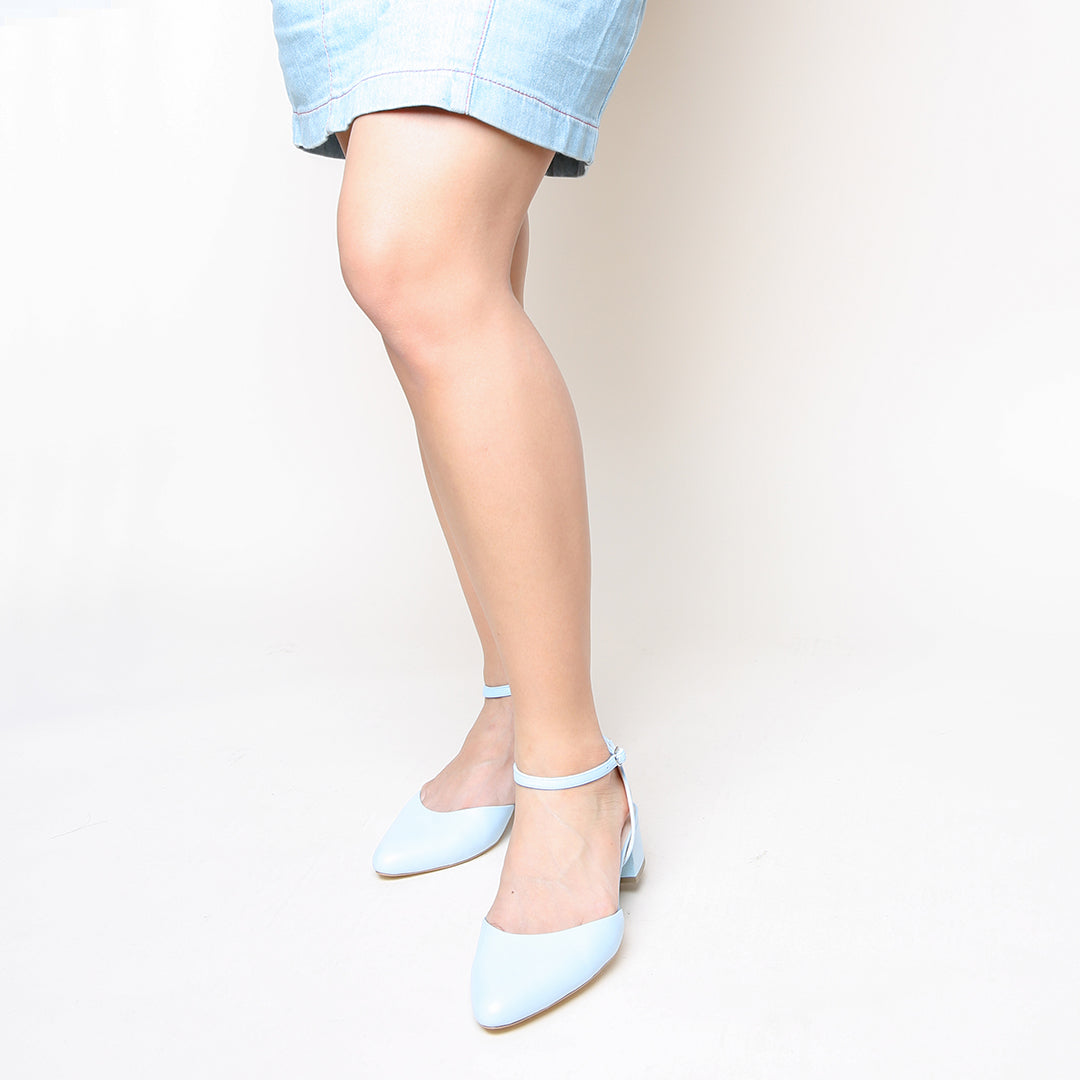 Agate Blue Slide + Marilyn Custiomizable Slides | Alterre Create Your Own Slides - Ethical Women's Shoes