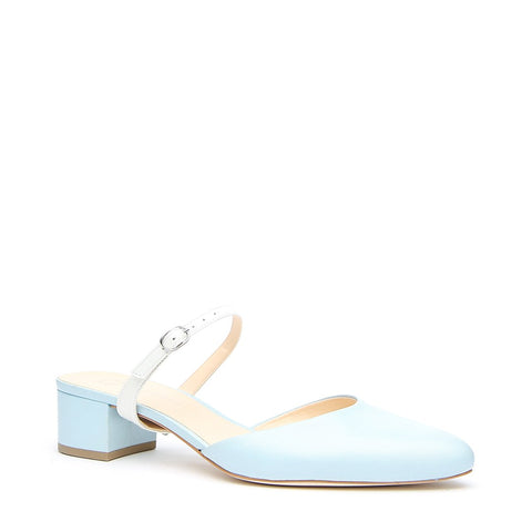 Agate Blue Slide + White Twiggy Customized Slides | Alterre Make A Shoe - Sustainable Shoes & Ethical Footwear