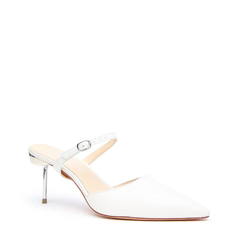 White Stilettos + Twiggy Customizable Strap | Alterre Make A Stiletto - Sustainable Shoes & Ethical Bridal Footwear