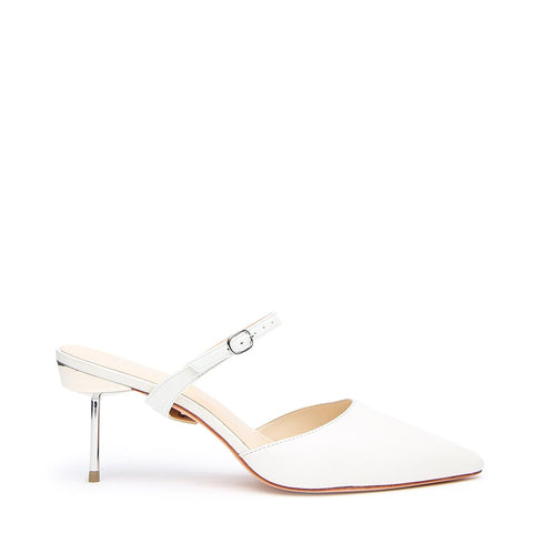 White Stiletto + Twiggy Customizable Strap  | Alterre Interchangeable Stilettos - Sustainable Footwear & Ethical Bridal Shoes