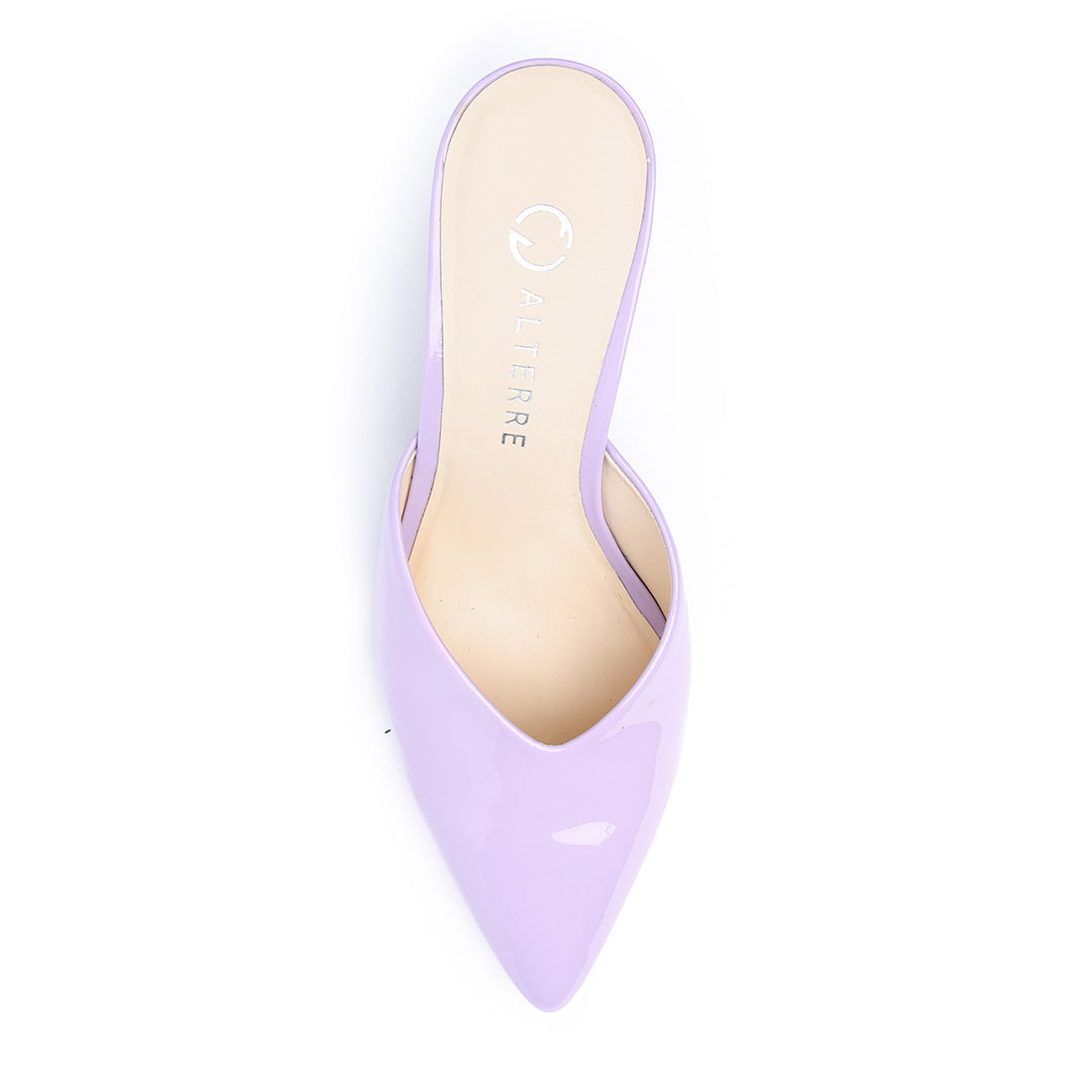 Lilac Gloss V Mule | Alterre Customized Shoes - Women's Ethical Mules, Sustainable Footwear